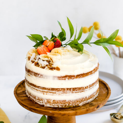 banana cake cream cheese frosting