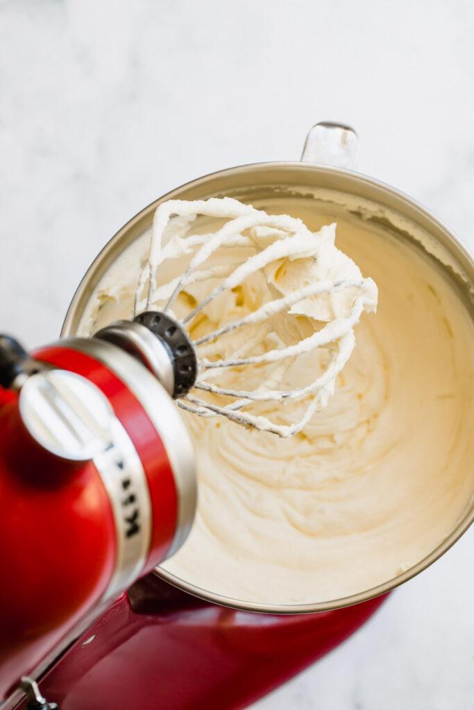 buttercream in mixer