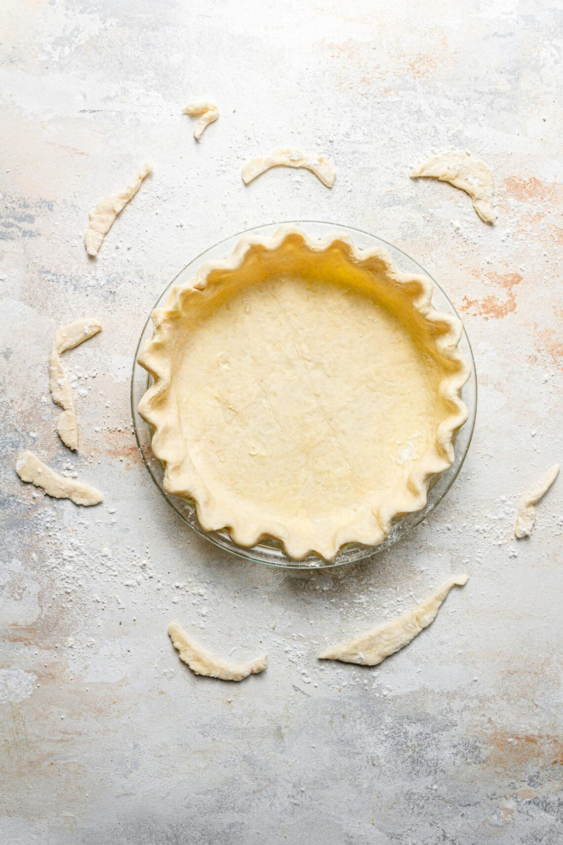 all butter pie crust in pan unbaked