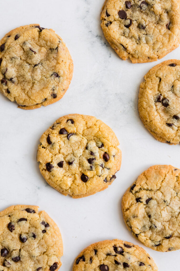 chocolate chip cookies on board