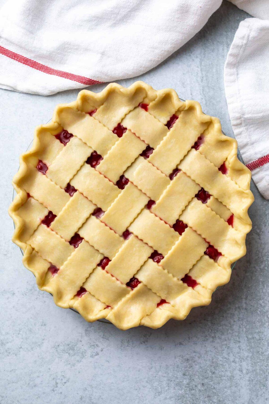 unbaked cherry pie