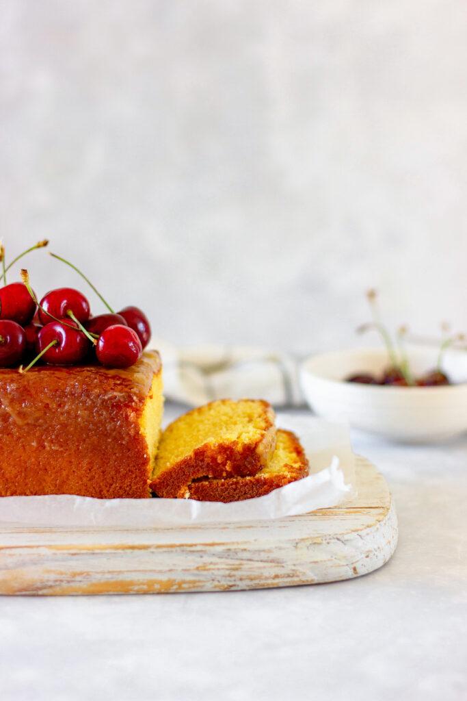 lemon pound cake side shot