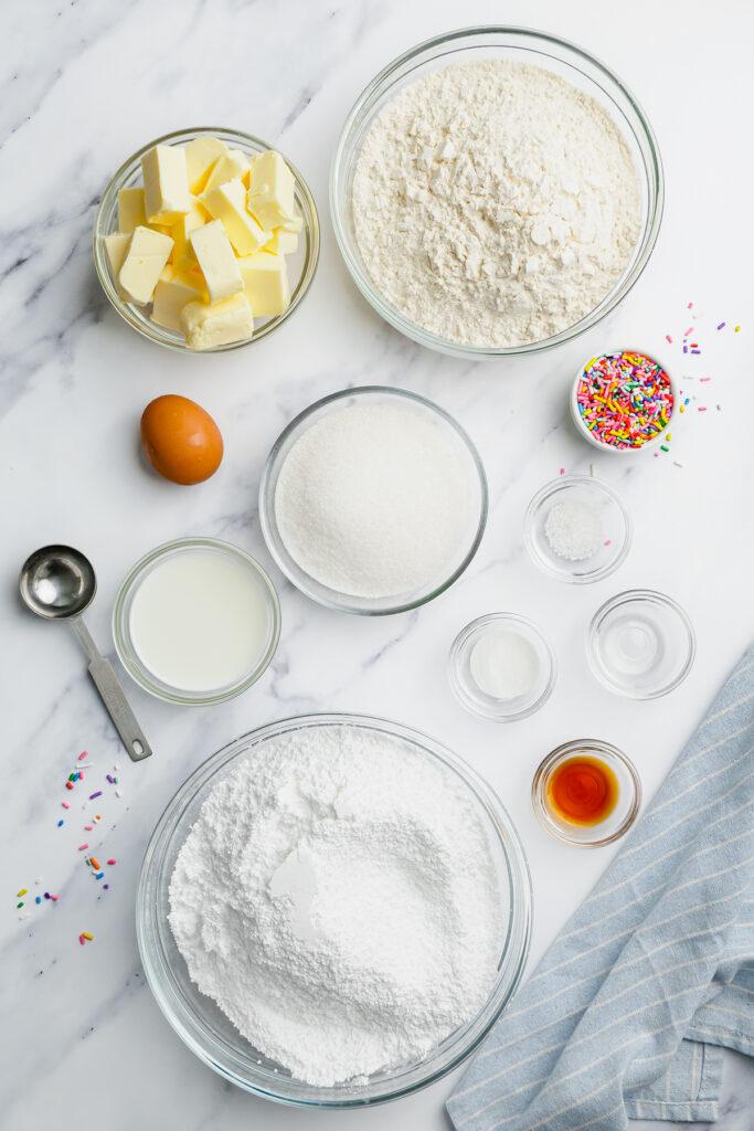 ingredients on marble table