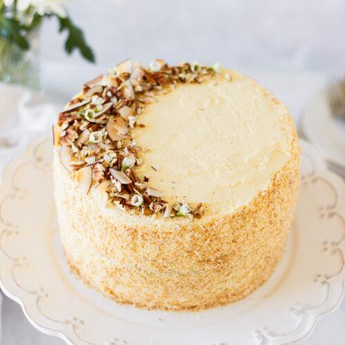 Finished Italian cream cake