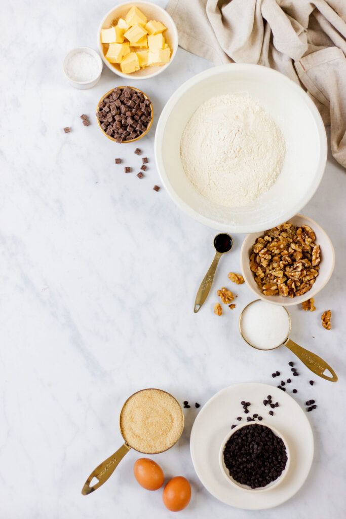ingredients on marble counter