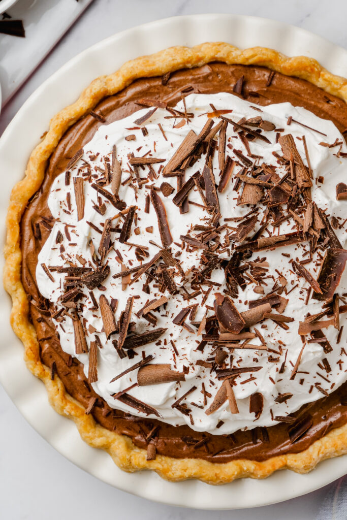 cut into chocolate pie