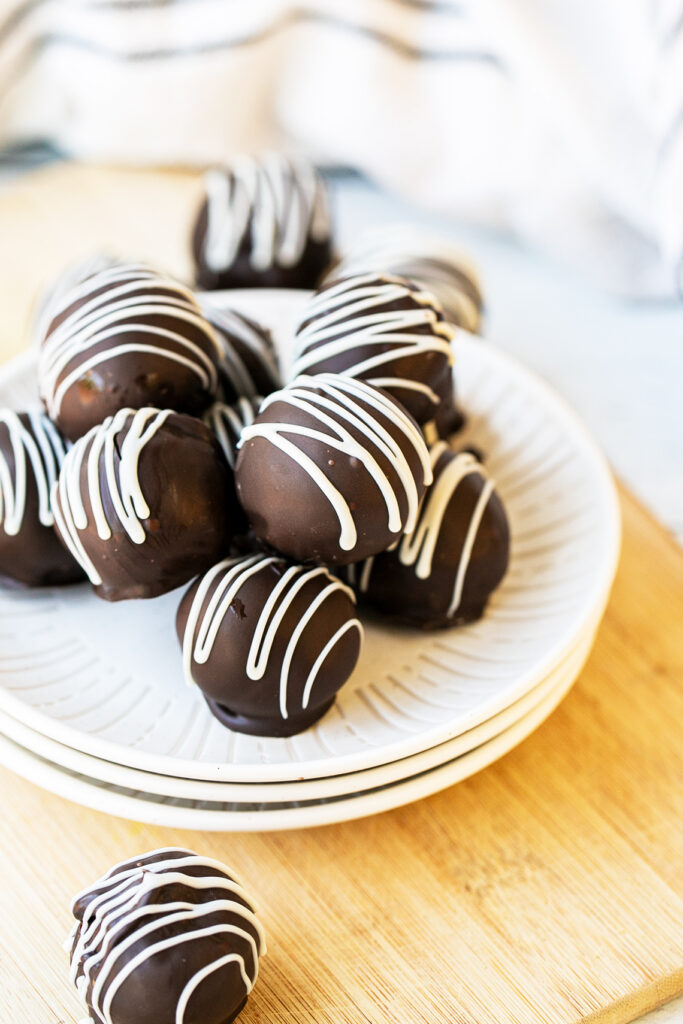 cake balls on a plate